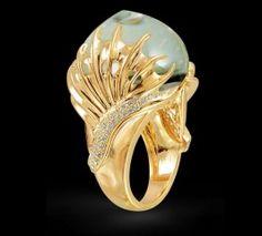 Crystal & Diamond Ring by Farah Khan