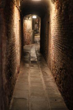 Alley in San Marco, Venice, Veneto_ Italy