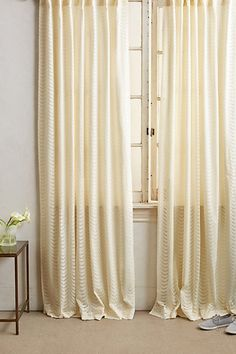 Scalloped Lace Curtain #anthropologie