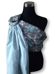 Blue & Forest Animal Print Baby Ring Sling / by CoutureBabySlings