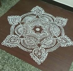 Simple Rangoli Designs Images, Rangoli Border Designs, Rangoli Patterns, Rangoli Designs Diwali, Rangoli Designs With Dots, Kolam Rangoli, Beautiful Rangoli Designs, Free Hand Rangoli Design, Small Rangoli Design