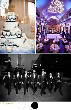 Glamorous Black and White Wedding at L.A.'s Vibiana - Neda and Eidin - Junebug's Wedding Blog - Celebrating the Best in Wedding Style, Fashion, Photography and Decor