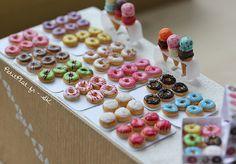 Miniature Food - Rainbow Donuts