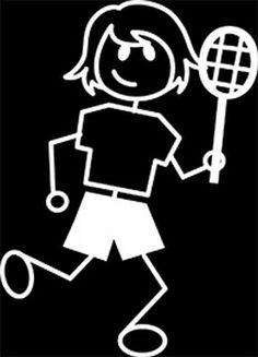(tiener) meisje tennist, wit
