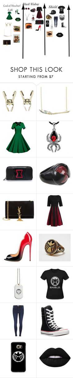 """""""Avengers #2"""" by theavengers353 ❤ liked on Polyvore featuring Marvel, Loungefly, Yves Saint Laurent, ONLY, Converse, Samsung and Lime Crime"""