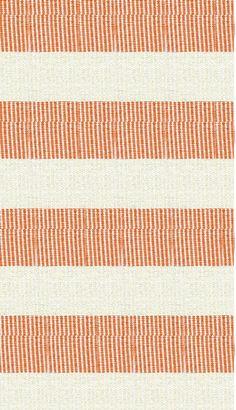 Hampton Indoor/Outdoor PVC Rug - Orange, Cream, and White