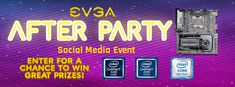 Enter the EVGA New Years After Party Social Media Event to win great prizes from @TEAMEVGA & @INTELGAMING!