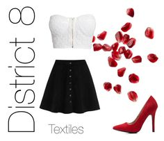 """The hunger games- district 8"" by little1kitten ❤ liked on Polyvore featuring NLY Trend and Charlotte Russe"