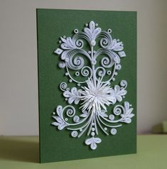 Neli Quilling Art: Quilling card - white
