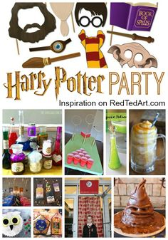 DIY Harry Potter Party Ideas - How to host a Harry Potter Birthday Party or host a Harry Potter Halloween Party! Harry Potter Christmas Decorations, Harry Potter Halloween Party, Harry Potter Games, Harry Potter Decor, Harry Potter Birthday, Halloween Birthday, 12th Birthday, Birthday Ideas, Party Ideas