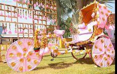 Beautiful pink mehendi photobooth decor with gota for rickshaw. See more on wedm. Indian Wedding Planning, Wedding Planning Websites, Mehndi Decor, Mehendi, Online Wedding Planner, Wedding Stage Decorations, Wedding Website, Event Decor, Event Ideas