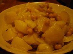 Insalata di patate, ceci e cipolla