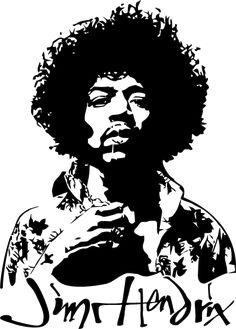 Jimi Hendrix by on DeviantArt Airbrush, White Art, Black And White, Janis Joplin, Rock Legends, Stencil Art, Pyrography, Bob Marley, Rock Art