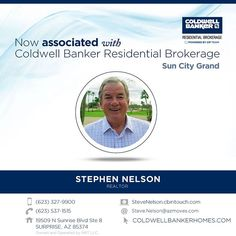 Please help us welcome Stephen Nelson to Coldwell Banker Residential Brokerage! Congratulations on your recent association Stephen. #ColdwellBankerArizona