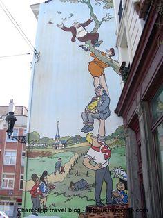 Bruselas fachadas de cómic