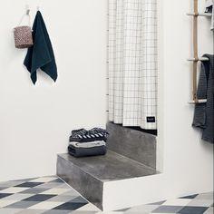 ferm living grid shower curtain - Fliesengestaltung Bad