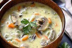 Блюдо ресторанного уровня: Сливочный суп с рисом и грибами