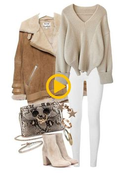 Refined look: 9 delicate images in beige shades-Утонченный look: 9 нежных образов в бежевых оттенках Refined look: 9 delicate looks in beige shades Mode Outfits, Stylish Outfits, Fashion Outfits, Womens Fashion, Fashion Trends, Fashion 2016, School Outfits, Casual College Outfits, Ladies Fashion