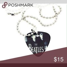"""The Beatles Guitar Pick Necklace 🎸 The Beatles Pick Necklace 23"""" Jewelry Necklaces"""