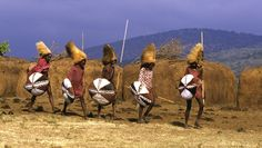 Masai Warriors Marching by Carol Beckwith and Angela Fisher