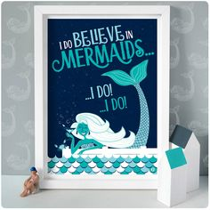 Are you interested in our illustrated mermaid print? With our seaside mermaid illustration you need look no further. Mermaid Illustration, Cute Characters, Character Illustration, Fairy Tales, Unique Gifts, Believe, Paper, Frame, Prints
