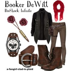 """Booker DeWitt (BioShock: Infinite)"" by a-fangirl-clad-in-plaid on Polyvore"