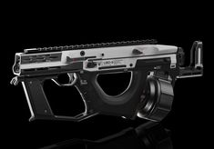 ArtStation - UBD-9 SMG, Daniel Kenton Future Weapons, Sci Fi Weapons, Military Equipment, Hand Guns, Concept Art, Cool Stuff, Artwork, Design, Firearms
