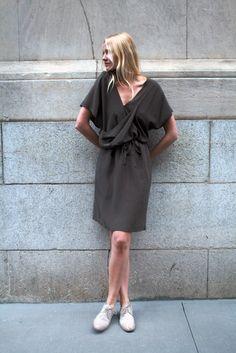 monique van heist grey tunic dress.