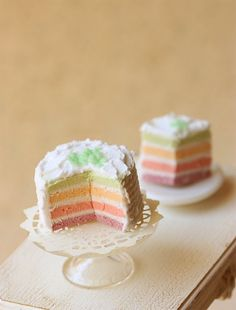 Such cute little rainbow cake minis
