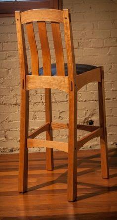 Arts and Crafts bar stool custom woodworking project idea