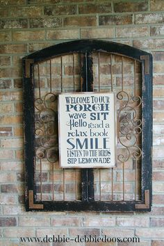 4 Easy Steps For Developing A Sunroom Repurosed Art Work For Front Porch Sign Front Porch Signs, Front Porches, Porch Makeover, Summer Porch, Outdoor Living, Outdoor Decor, Outdoor Spaces, Outdoor Furniture, House With Porch