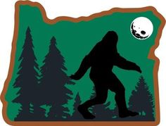 Heartsticker.com Heart in Oregon - Sasquatch Sticker