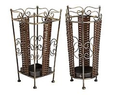 Set de 2 paragüeros de metal – marrón y negro Home Living, Divider, Room, Furniture, Home Decor, Two Men, Black, Home, Bedroom