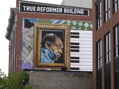 Duke Ellington House, Washington DC, located in the Shaw neighborhood, the hub of the African American cultural community.