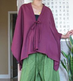 Origami+cotton+cape+made+to+order+by+annyschooecoclothing+on+Etsy,+$68.00