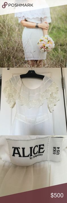 Alice by Temperley white lace whispers dress 4 New. Never worn. Perfect condition. Size 4 US. purchased from Shopbop. ALICE by Temperley Dresses Midi