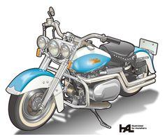 Harley Davidson illustration #harley #harleydavidson