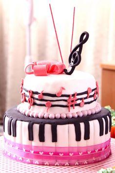Sweet Art Cakes By Milbree Moments Rikkas Musical Birthday Cake Music