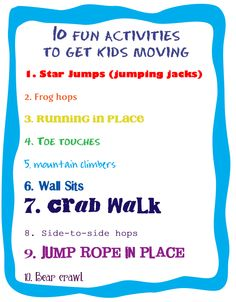 10 fun activities to get kids moving | Fit Made Fun