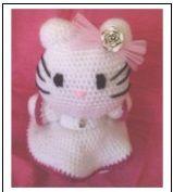 Hello Kitty Comunión Amigurumi - Patrón Gratis en Español aquí: http://de.slideshare.net/GLOSER46/kitty-comunion?related=2