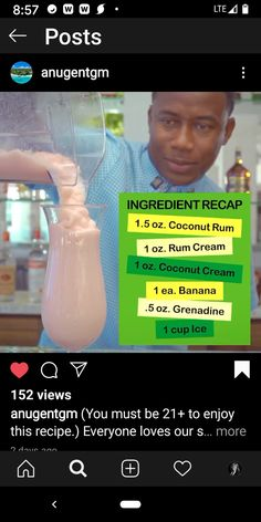 Rum Cream, Coconut Rum, Banana, Recipes, Recipies, Bananas, Food Recipes, Recipe