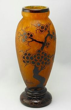 Le Verre Francais Schneider Art Deco Glass Vase Bonsai | eBay