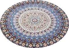 Gonbad Royalty Wool Persian Rug- Item#: TD-1178 Category: Round Persian Rugs Design: Dome Geometric Size: 250 x 250 (cm)      8' 2 x 8' 2 (ft) Origin: Persian, Tabriz Foundation: Wool Material: Wool & Silk Weave: 100% Hand Woven Age: Brand New KPSI: 500