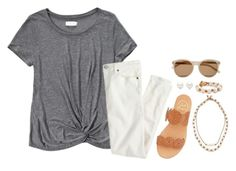 """""""possible new layout?(redo of the other set)"""" by molliekatemcc ❤ liked on Polyvore featuring Abercrombie & Fitch, J.Crew, Lead, Yves Saint Laurent, Tiffany & Co. and Jack Rogers"""