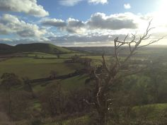 Easterly view from Cadbury Castle, thought by some to have been the location of Camelot. British Countryside, Secret Places, The Past, Novels, Castle, Landscape, History, Travel, Scenery