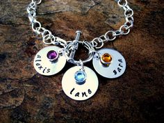Mommy Bracelet Name Bracelet Personalized Jewelry by CharmAccents,