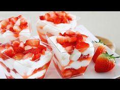 Recipe # Strawberry Tiramisu # Tiramisu Easy Strawberry Cup Tiramisu / No Bake / eggless / Dessert Cup Recipe Let's make delicious strawberry tirami. Eggless Desserts, Raw Desserts, Cookie Desserts, No Bake Desserts, Dessert Recipes, Plated Desserts, Strawberry Tiramisu, Strawberry Recipes, Gourmet Recipes