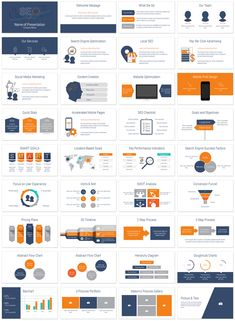 Search engine optimization PowerPoint template with 36 pre-designed slides. This presentation deck is perfect for digital marketing agencies. Presentation Deck, Business Presentation Templates, Corporate Presentation, Powerpoint Design Templates, Templates Free, Marketing Plan Template, Website Optimization, Startup, Data Visualization
