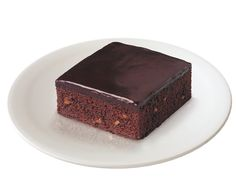 Sara Lee Iced Chocolate Brownies with nuts.