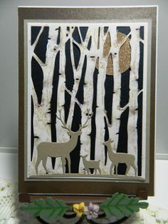 Birch Tree Silhouettes by kraftyaunt - Cards and Paper Crafts at Splitcoaststampers